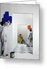 Men Painting Walls Greeting Card