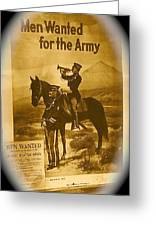 Men Wanted For The Army Poster No Date Ghost Town South Pass City Wyoming 1971 Vignetted Toned 2008 Greeting Card