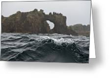 Menacing Waters Of The Gulf Of The Farallones Archipelago Greeting Card