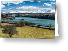 Menai Bridge 1819 Greeting Card
