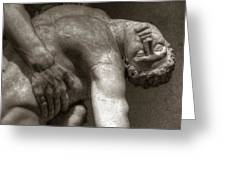 Menelaus Supporting The Body Of Patroclus Greeting Card