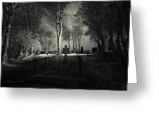 Menlo Cemetery Greeting Card by Peter Skelton