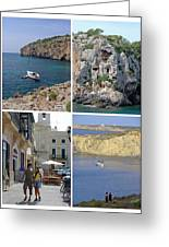 Menorca Collage 02 - Labelled Greeting Card