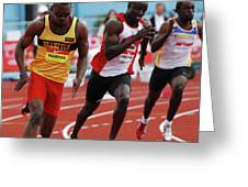 Mens 200 Meter Greeting Card