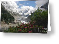 Mer De Glace - Sea Of Ice Greeting Card by Camilla Brattemark