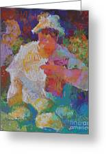 Mercado Lady With Melons Greeting Card