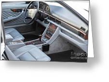 Mercedes 560 Sec Interior Greeting Card