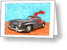 Mercedes  Benz 300 S L Gull Wing Greeting Card