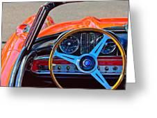Mercedes-benz 300 Sl Steering Wheel Emblem Greeting Card