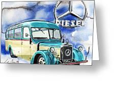 Mercedes Benz D-2600 Bus Greeting Card