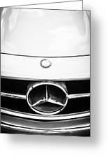 Mercedes-benz Grille Emblem -0230bw Greeting Card