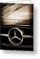 Mercedes-benz Grille Emblem Greeting Card