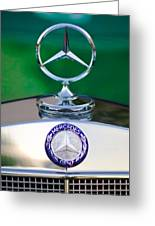 Mercedes Benz Hood Ornament 3 Greeting Card