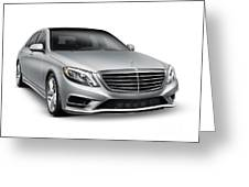 Mercedes-benz S550 4matic Luxury Car Greeting Card