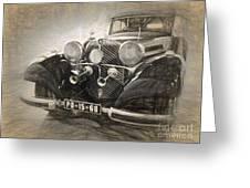 Mercedes Benz Vintage Greeting Card