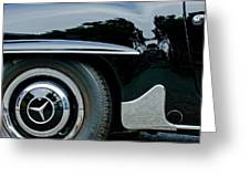 Mercedes-benz Wheel Emblem Greeting Card