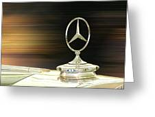 Mercedes Hood Ornament Greeting Card