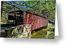 Mercers Mill Covered Bridge Greeting Card