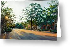 Merchants Square In The Late Afternoon Greeting Card