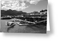 Merchants Wharf In Black And White Greeting Card