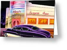 Mercs Burgers Greeting Card