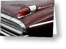 Mercury Monterey Taillight Greeting Card