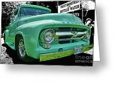 Mercury Truck Bw Background Greeting Card