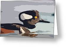 Merganser Reflections Greeting Card