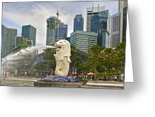 Merlion Park In Singapore Greeting Card