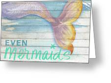 Mermaid Bath II Greeting Card