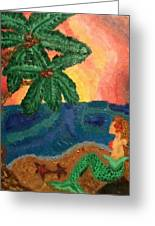 Mermaid Beach Greeting Card by Oasis Tone