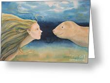 Mermaid Encounter Greeting Card