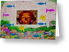 Mermaid In Her Cave Greeting Card