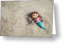 Mermaid In The Sand Greeting Card