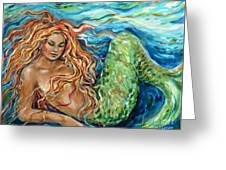 Mermaid Sleep New Greeting Card