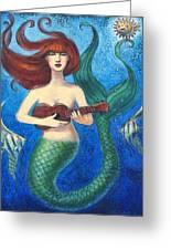 Mermaid Ukulele Angels Greeting Card