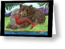 Mermaids Bear Cathy Peek Fantasy Art Greeting Card