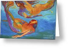 Mermaids Swimming Greeting Card