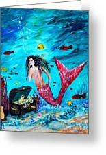 Mermaids Treasure Greeting Card