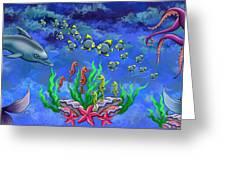 Mermaid's World Greeting Card by Jenny Kirby