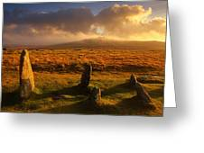 Merrivale Stone Rows Greeting Card