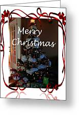 Merry Christmas - Greeting Card - Christmas Tree - Ribbons Greeting Card