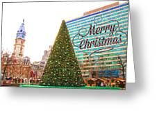 Merry Christmas From Philadelphia Greeting Card