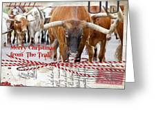 Merry Christmas From The Trail Greeting Card