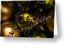 Merry Christmas Greeting Greeting Card