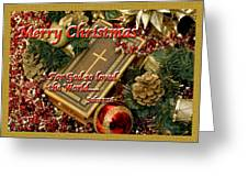 Merry Christmas - John 3 V16 Greeting Card