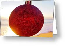 Merry Christmas Ornament Sunrise 11 12/17 Greeting Card