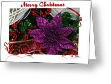 Merry Christmas Red Ribbon Greeting Card