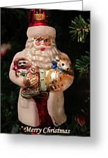 Merry Christmas Santa And Animals Greeting Card