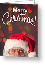 Merry Christmas Santa Card Greeting Card